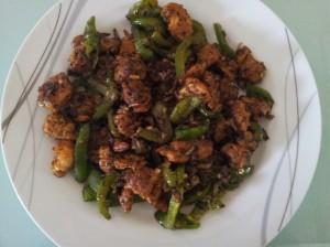 mushroom chilli pudina  fry