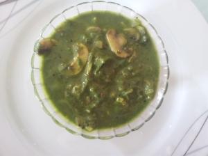 mushroom palak