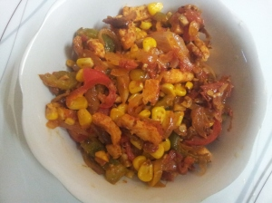 paneer capsicum corn masala